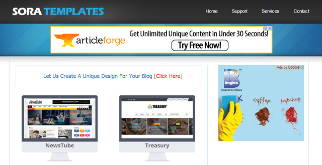 free html blog templates code - soratemplates to download free blogger templates