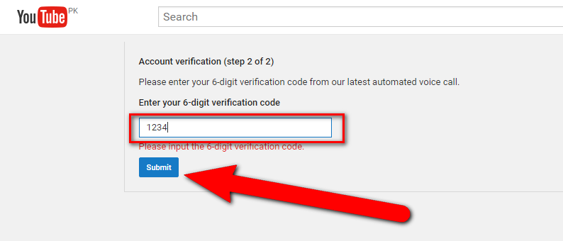Verifying Youtube Account Channel
